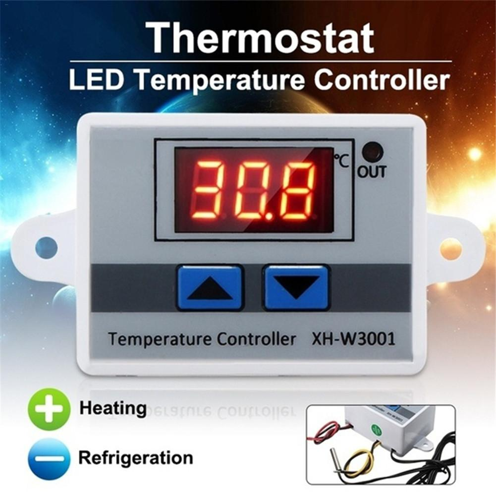XH-W3001Digital LED Temperature Controller 12V 24V 220VAC For Incubator Cooling Heating Switch Thermostat NTC Sensor