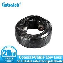 Cable Coaxial RG6 de 20 metros, Cable 5D de alta calidad, conexiones N macho a N para repetidor de señal potenciador y antenas, envío gratis