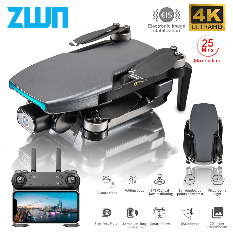 ZWN SG108 GPS Drone with 5G Wifi FPV 4K HD Dual Camera Brushless Optical Flow RC Quadcopter Follow Me Mini Dron vs L108 EX5|RC Quadcopter| - AliExpress