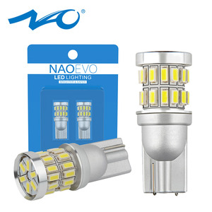 NAO T10 W5W 12V Led Auto 1.5W Car led light Automobiles 5W5 Interior Motorcycle Blub 194 Clearance lamp 500LM White Super bright