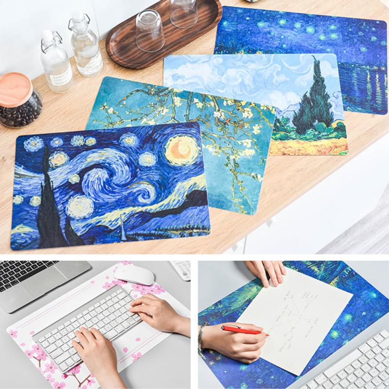 Gaming Mouse Pad Oil Painting Mouse Pad Table Mat Novel Printing Mouse Pad Keyboard Desk Mat Cushion For Mouse Dining Table