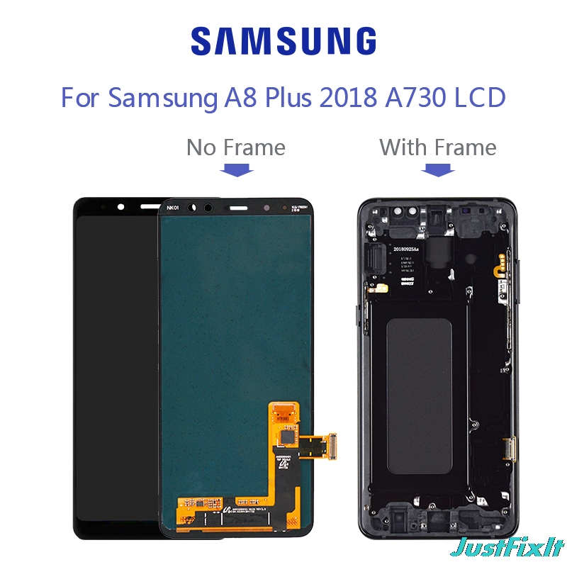 ORIGINAL SUPER AMOLED LCD Screen For SAMSUNG Galaxy <font><b>A8</b></font> Plus <font><b>2018</b></font> A730 A730x LCD <font><b>Display</b></font> Touch Screen Digitizer Replacement image
