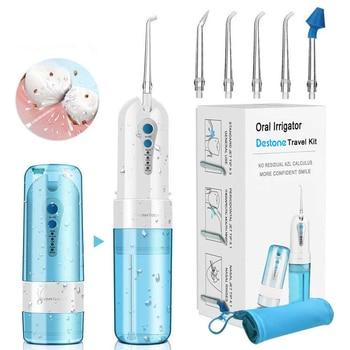 Destone-irrigador bucal inalámbrico IPX7, resistente al agua, 4 modos, recargable por USB,...