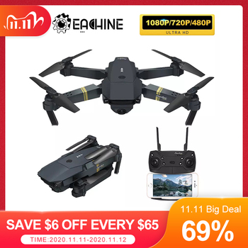 Eachine E58 WIFI FPV With Wide Angle HD 1080P/720P/480P Camera Hight Hold Mode Foldable Arm RC Quadcopter Drone X Pro RTF Dron