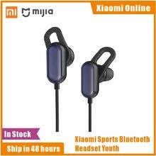 Orijinal Xiaomi spor Bluetooth kulaklık gençlik sürümü Mic ile kablosuz kulaklık müzik spor IPX4 su geçirmez ter geçirmez kulaklık