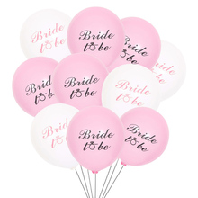 10 PCS Latex Bride To Be Helium Balloons Birthday Decorations Balloon Baby Shower Theme Wedding Bachelor Party Decor Supplies цена и фото