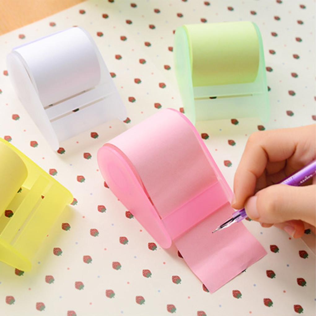 ZHUTING Convenience Multi-Color Pad Roll Sticky Note Memo Pad With Tape Holder  Student Office Supplies