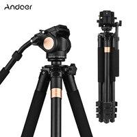 Andoer 70 Tripod Professional Heavy Duty Aluminum Alloy DSLR Camera Tripod with Fluid Drag Head for Canon Nikon Sony Camera