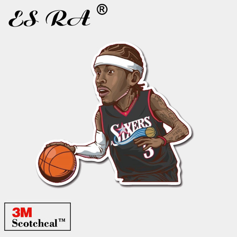 3M Stickers Toys Basketball Players Stickers Sport Star Pegatinas Laptop Luggage Guitar Skateboard Notebook Decorate Allen Ivers