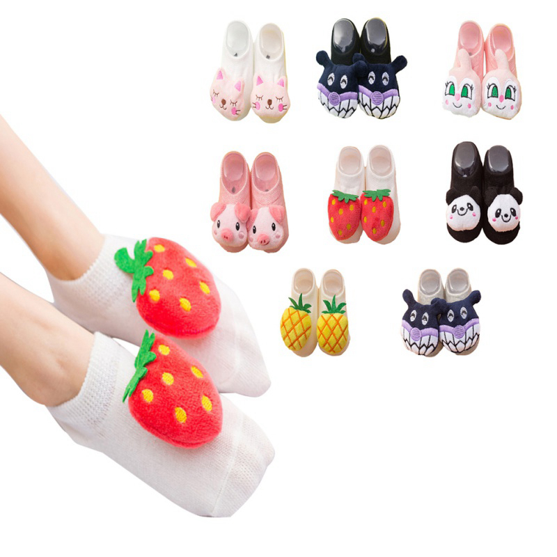 Cute Animal Socks For Infant Baby Toddler Boy Socks Cotton 0-3Y  Girl Newborn Kids 3D Animal Fruit Decoration Socks2
