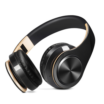 New Arrival !! Shinning Gold Colors Bluetooth Headphones Wireless Stereo Headsets Earbuds With Mic /TF Card 2