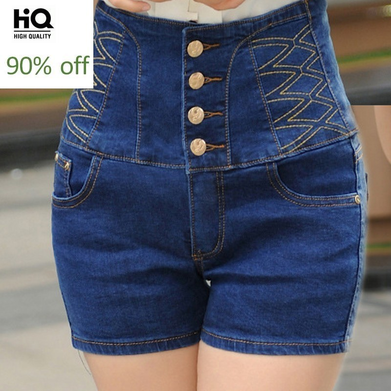 High Waist Female Jeans Summer Europe Fashion Streetwear Casual Straight Slim Shorts Harajuku Plus Size 6XL Denim Trouser Woman