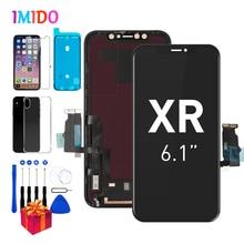 """Amoled LCD עבור iPhone XR תצוגת OEM 6.1 """"מגע מסך Digitizer עם 3D מגע הרכבה + עמיד למים חותם A2105 a1984 A2107 A2108"""