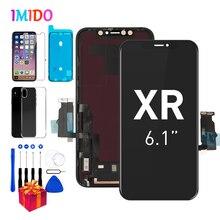 Pantalla LCD Amoled para iPhone XR, digitalizador de pantalla táctil OEM de 6,1 pulgadas con montaje táctil 3D + sello impermeable A2105 A1984 A2107 A2108