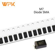 Pcs SMD Diodos Retificadores DO-214AC 50 M7F M7 M4 M2 M1 1A 50V 100V 200V 400V 600V 800V 1000V SMA Diodos De Silício Eletrônico