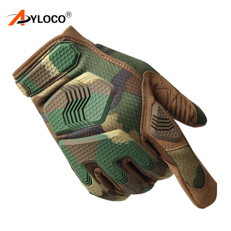 Army Military Tactical Touch Screen Full Finger Gloves for Motorcycle Hunting