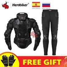 HEROBIKER – vestes de protection pour moto, armure de moto, veste de protection du corps pour Motocross, équipement de protection + protection du cou