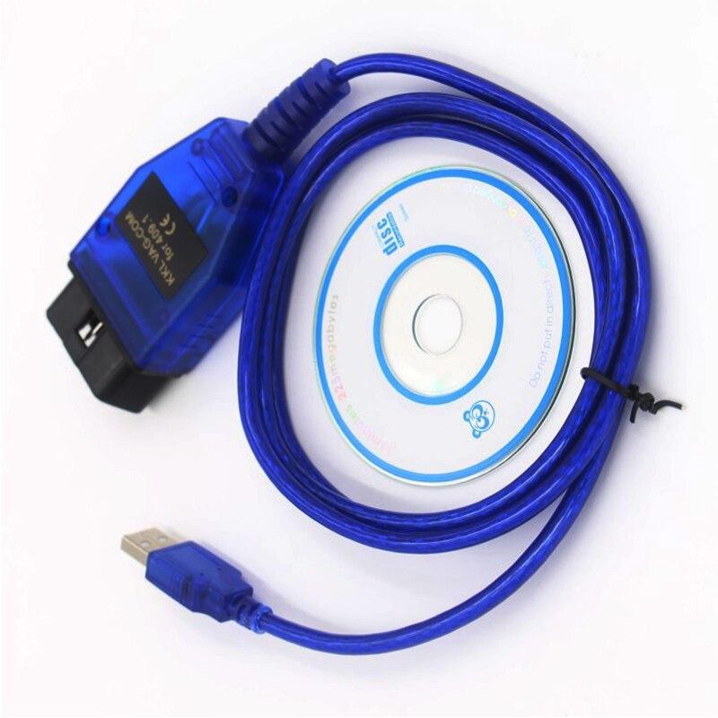 Beyisi VAG COM 409.1 Vag Com 409Com vag 409.1 kkl OBD2 USB Diagnostic Cable Scanner  Interface For VW Audi Seat Volkswagen Skoda|  -