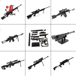 Image 4 - 8 قطعة/المجموعة 1/6 SVD TAC 50 Mk46 MK14 PSG 1 FIM 43 DSR قناص بندقية سلاح تجميع مسدس لعبة نموذج ل عمل الشكل