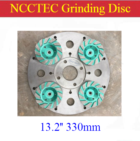 13.2'' Circular Steel Heavy Duty Rust Free Disc For Diamond Floor Grinder | 330mm Chassis Round Plate For Install Diamond Tools
