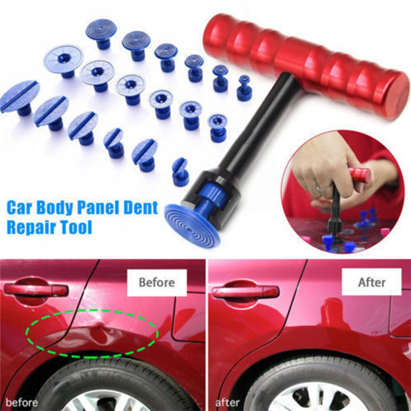 T Shape Universa Dent Puller Sheet Metal Plastic Suction Cup Car Repair Tools Kits Car Auto Body Repair Suction Cup Slide Tool