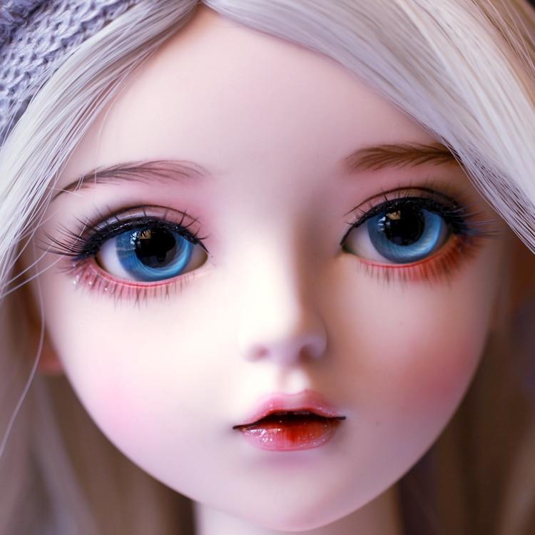 Шарнирная кукла 60 см, подарки для девочки, кукла с серебряными волосами и одеждой, кукла NEMEE со сменными глазами, лучший подарок на день Святого Валентина, ручная работа 2