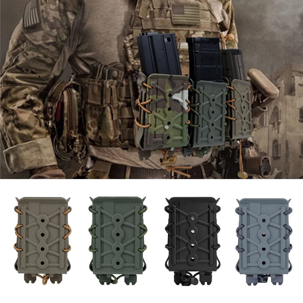 Pouch 5.56mm 7.62mm Rifle Magazine Pouches Molle Tactical Airsoft  Pistol Holder  Hunting Polymer