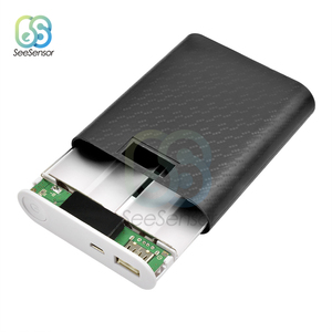 4X18650 USB Banco De Potência Caso Carregador de Bateria DIY Shell Caixa Com Tela de Exibição para iPhone Android Telefone Inteligente