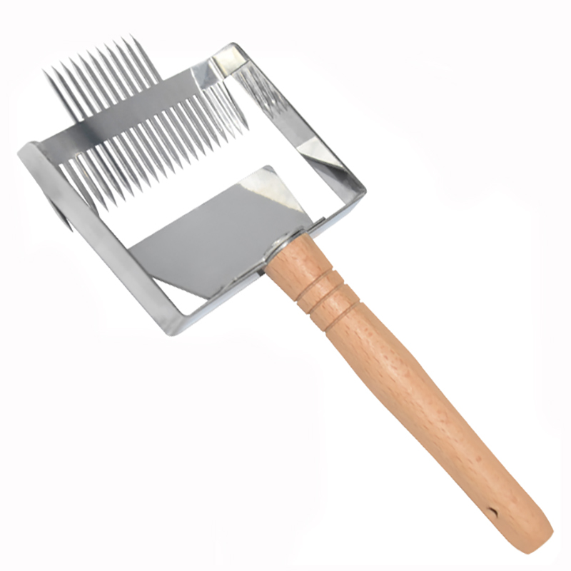 2 In 1 Stainless Steel Bee Hive Uncapping Honey Fork Beekeeper Scraper Shovel Honey Honeycomb Double Needle Beekeeping Tools