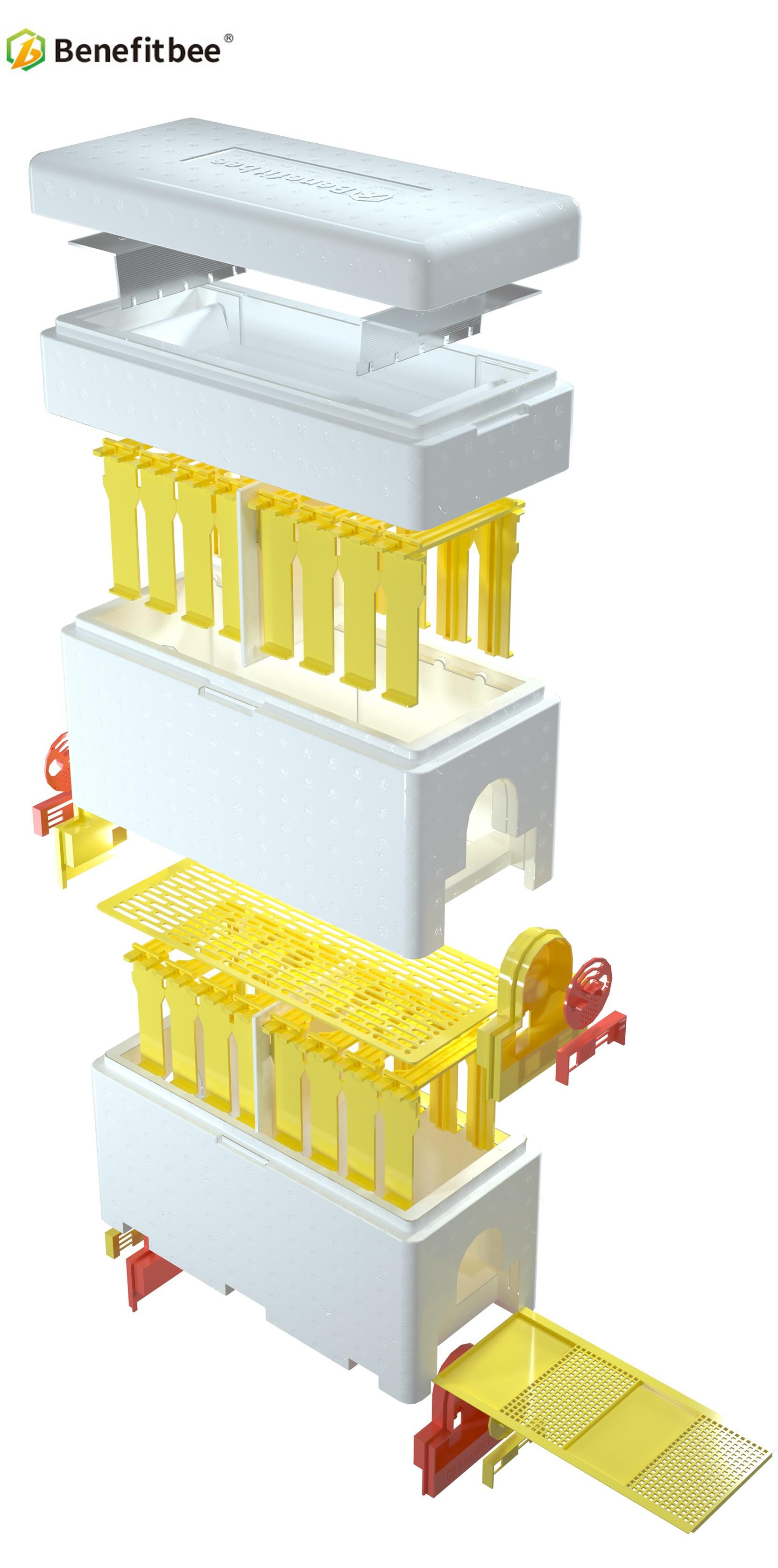 Бенффитби бренд многофункциональный королева пчелиный улей пластиковый пенопластовый материал двойная коробка вывод маток улей инструмент пчеловода пчелиное гнездо
