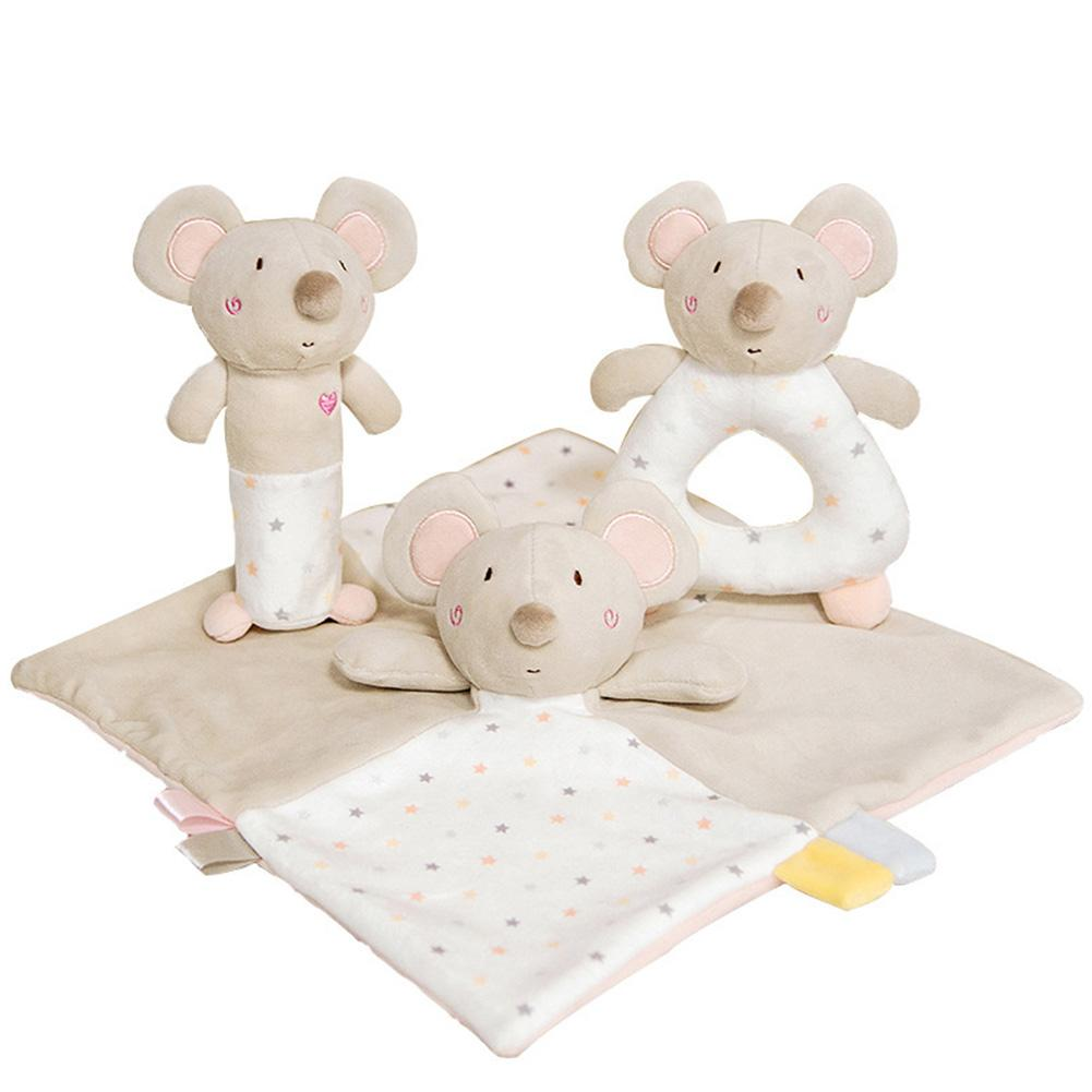 Baby Mouse Soothing Towel Plush Toy Baby Saliva Towel Sleep Doll Baby Saliva Towel With Sleeping Doll PP Cotton Filling Material