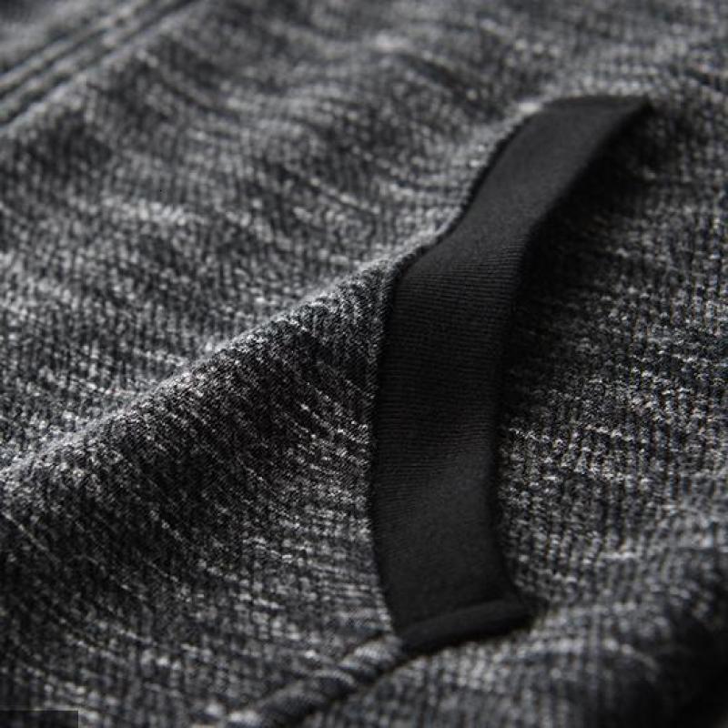 Толстовка мужская осень новая Пряжа окрашенная молния толстовки высокое качество мода Slim Fit серый с капюшоном толстовки для мужчин - 5