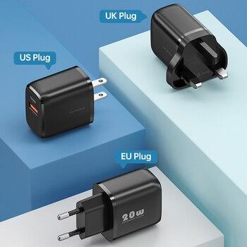 Зарядное устройство KUULAA 20 Вт Quick Charge 3,0 4