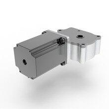 цена на Hot sale nema 23 geared worm double hole gearbox stepper motor