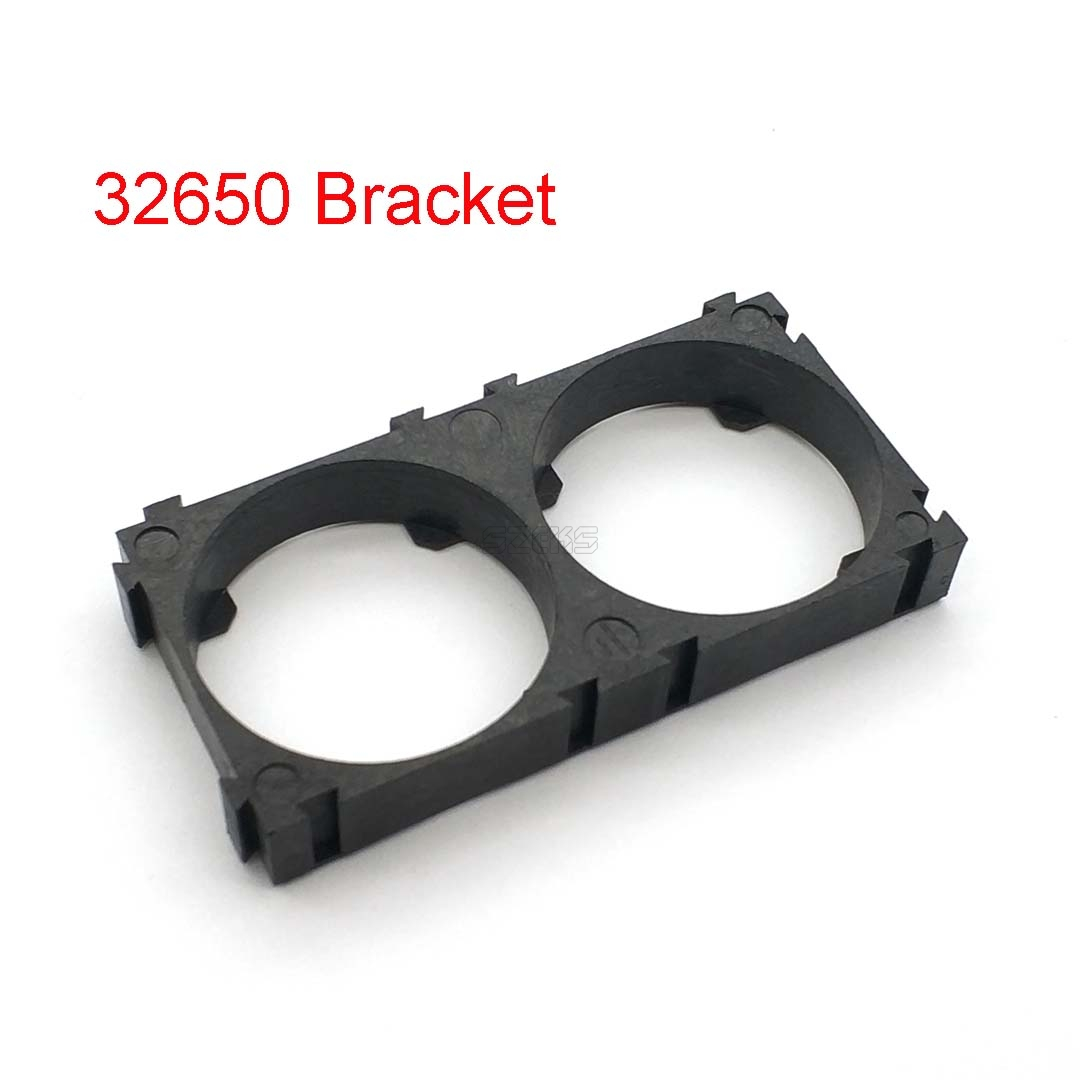 <font><b>32650</b></font> 2x <font><b>Battery</b></font> <font><b>Holder</b></font> <font><b>Bracket</b></font> Cell Safety Anti Vibration Plastic <font><b>Brackets</b></font> For <font><b>32650</b></font> <font><b>Batteries</b></font> image