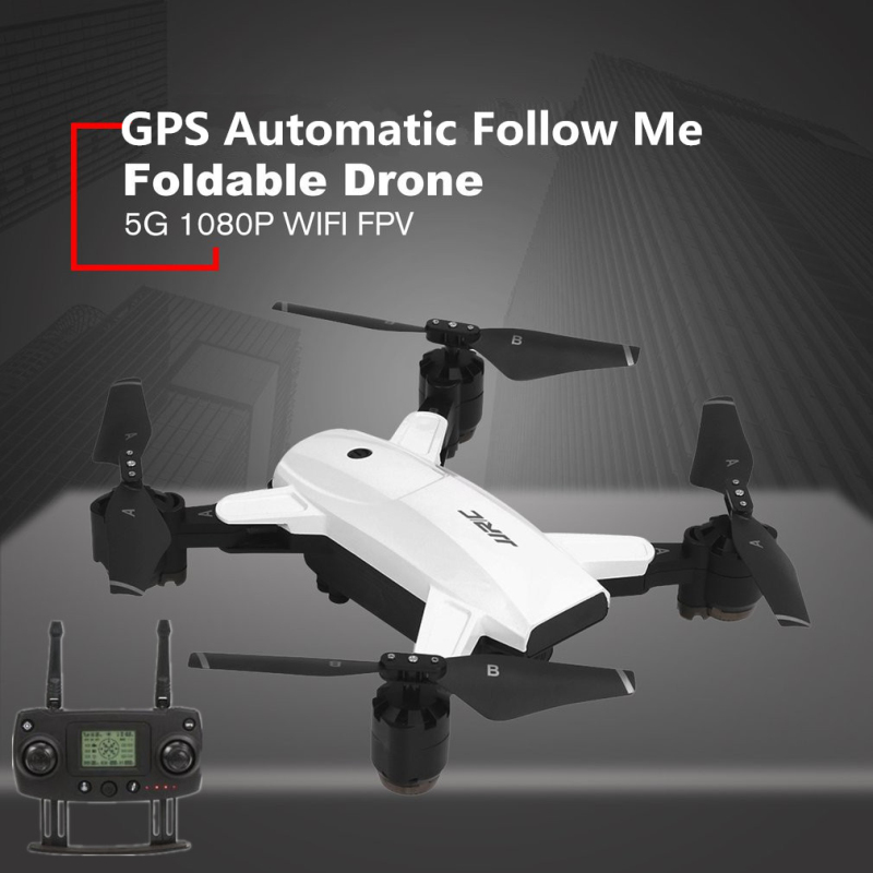 Professional WIIF FPV Remote Control Drone Toys 2.4G 4CH 5G GPS Auto Follow Me Folding RC Drone Helicopter with 1080P HD Camera image