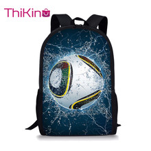 Thikin Cool Soccer Ball Students School Bag for Boys Teenagers Backpack Travel Package Shopping Shoulder Women Mochila