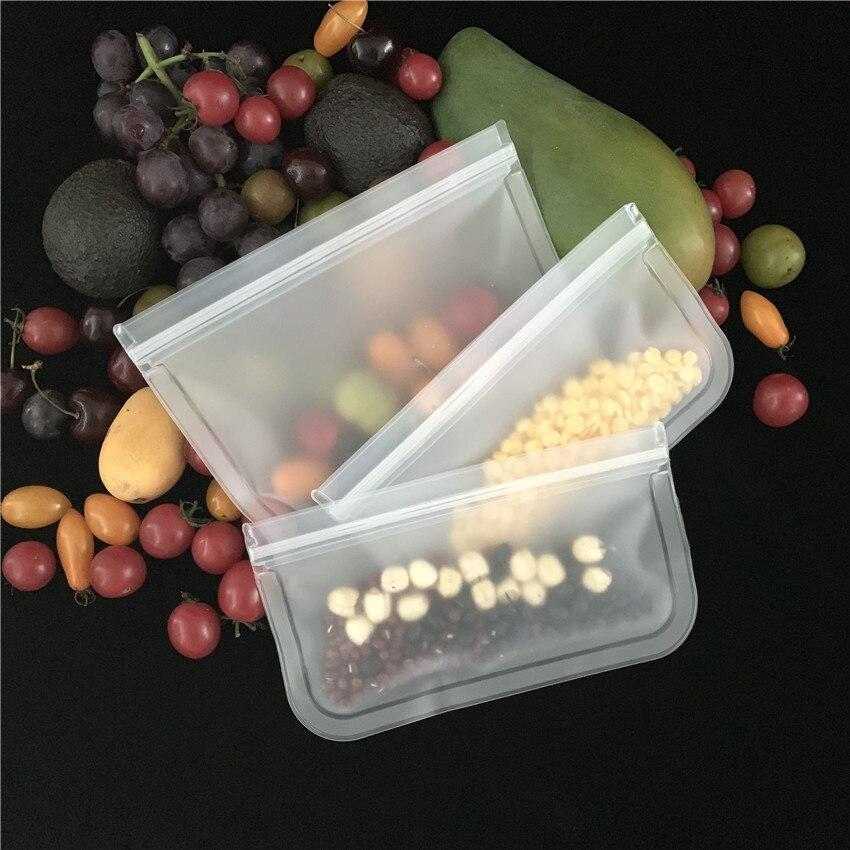Силиконовые контейнеры для хранения пищевых продуктов, герметичные контейнеры, многоразовые стоячие пакеты на молнии, чашка, пакет для све...