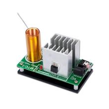 цена Mini Music Tesla Coil DIY Kit mini plasma speaker  electronic component parts diy tesla coil speaker онлайн в 2017 году