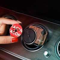 Gravador de carro aromaterapia turntable purificador de ar do carro tomada de ar aromaterapia aroma carro perfume difusor decoração