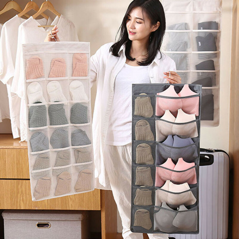 New Fashion Women Ladies Convenient Hanging Bag Bra Underwear Rack Hanger Storage Organizer Storage Bag
