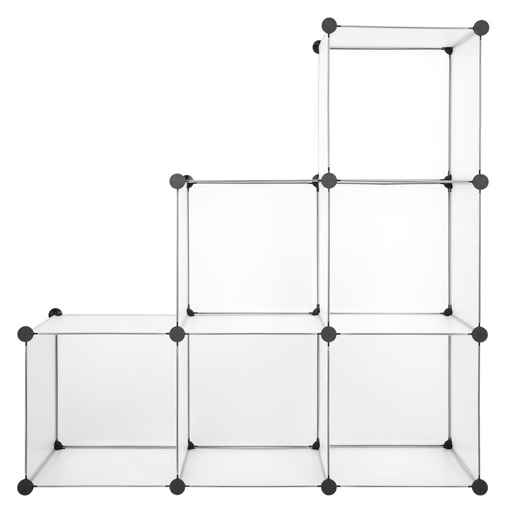 6 решеток Полка Шкаф для хранения пряжки разъемы замок Куб DIY модульный шкаф Органайзер шкаф мебель петли домашний декор