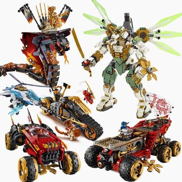 2019 New Ninja Series Lioyds Titan Mech Compatible Legoingly Ninjagoing 70676 70675 70673 Building Blocks Toys For Kids Gift