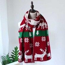 Vintage Ladies spring Winter Christmas elk Tree Pattern long shawl Scarf Print Wraps худи print bar christmas winter