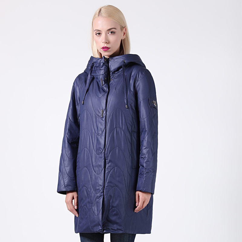 2019 New Spring-Autumn Collection Women's Jacket Warm Windproof Hoodie Thin Women   Parka   Long Plus Size Female Coat High Quality