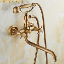 Bathtub Faucet Bath-Water-Mixer Brass Four-Handle-Options HOTAAN Outlet 30cm A-Set Rotated