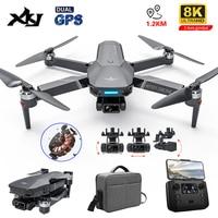 XKJ Neue GPS Drone 4k Profesional 8K HD Kamera 3-Achsen Gimbal Aerial Fotografie Bürstenlosen Faltbare Quadcopter RC Eders Spielzeug Geschenke