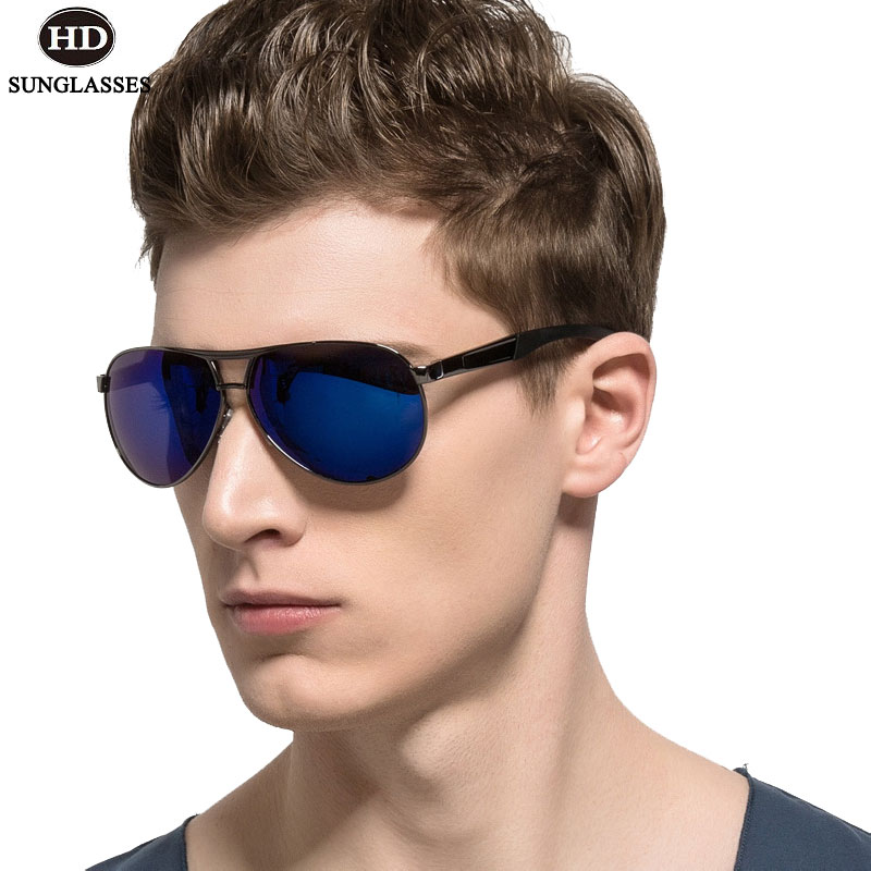HD Stylish Men Polarized Sunglasses Hipster Eyewear Driving Glasses Frog Mirror Oculos De Sol Cool Gafas Police Lunettes LD009 lunette de soleil police homme 2019