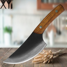 XYj High Clad Steel Kitchen Knives Handmade Forged Butcher Knife Full Tang Handle Meats Cleaver Boning