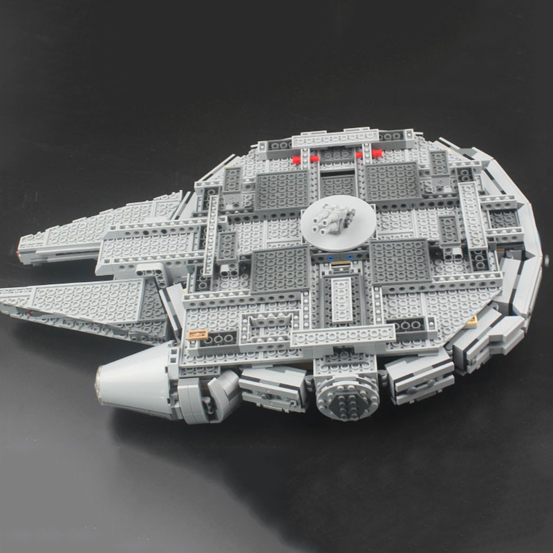 Image 3 - Locking star wars Millennium SpaceShip Set Action Figures Han Solo s Bricks Building Blocks Toys For Children starwars LockingsBlocks   -